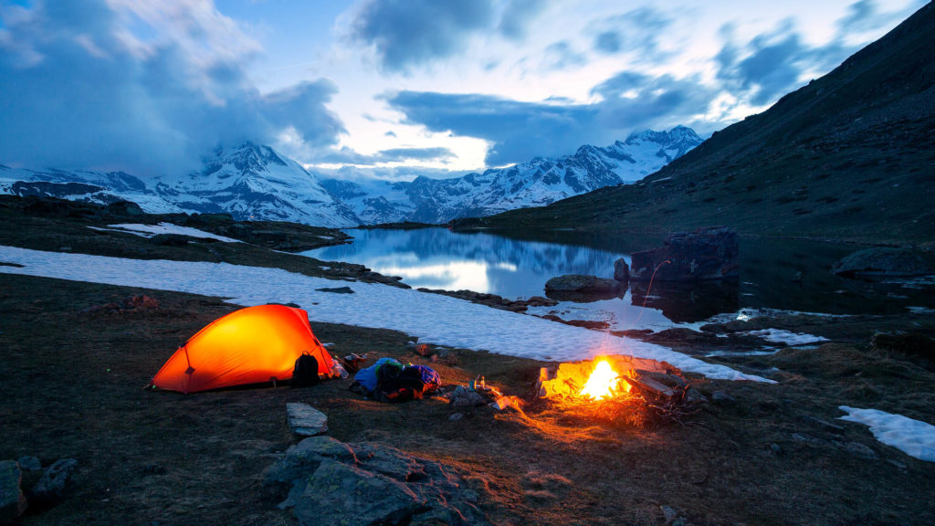 Übernachtung auf dem Berg, Landschaftsfotografie